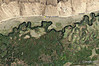 Lower Owens-Bishop Special Regs Waters<br /> 08-Rocks_and_River_bend<br /> 37.4111 -118.46977<br /> Aerial View