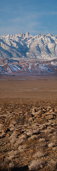 """Mount Whitney and the Whitney Portal Road  <a href=""""http://www.dbdimages.com/photos/896171557_3acsN-O-1.jpg""""TARGET=""""blank"""">View large in another window.</a> Use your viewer's zoom function if necessary."""