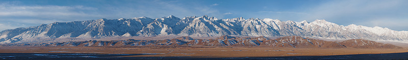"""Forty miles of Sierra Crest around Mount whitney  <a href=""""http://www.dbdimages.com/photos/896172950_NpQm2-O-1.jpg""""TARGET=""""blank"""">View large in another window.</a> Use your viewer's zoom function if necessary."""