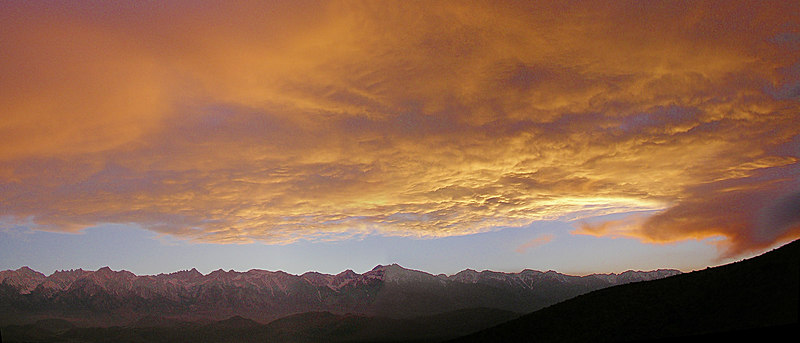 """The Sierra Wave Over Mount Whitney After Sunset  <a href=""""http://www.dbdimages.com/photos/79927627_miUvp-O.jpg""""TARGET=""""blank"""">View large in another window.</a> Use your viewer's zoom function if necessary and be sure to use the sliders."""