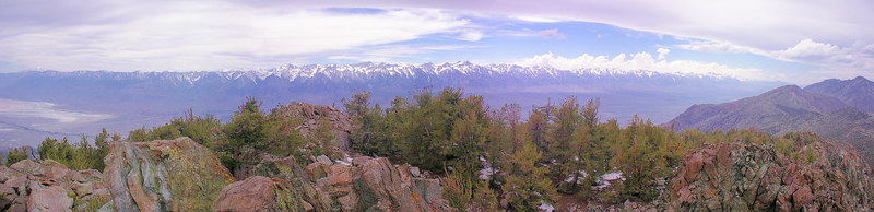 "Mt Whitney Region Sierra Crest -from the top of New York Butte. -from a perspective that shows Lone Pine Peak lower than Mt Whitney  <a href=""http://www.dbdimages.com/photos/71199254_8Gb9E-O.jpg""TARGET=""blank"">View large in another window.</a> Use your viewer's zoom function if necessary and be sure to use the sliders."