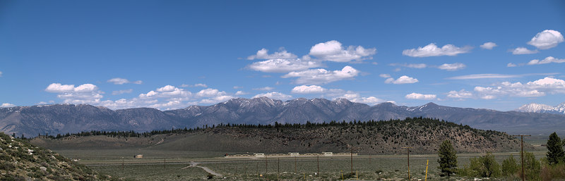 Mammoth Lakes Airport and Glass Mountain from Convict Road