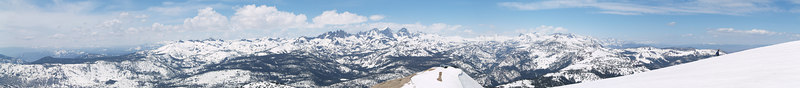 "The Ritter Range and beyond above the top of Chair 23 On the skyline: . Iron Mountain . The Minarets . Mount Ritter . Mount Banner . Donahue Peak . Blacktop Peak . Parker Peak . Mount Wood  <a href=""http://www.dbdimages.com/photos/76433054_Xo6Zc-O.jpg""TARGET=""blank"">View large in another window.</a> Use your viewer's zoom function if necessary."