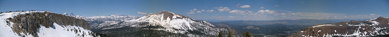 "Mammoth Mountain Panorama from Red Cones  <a href=""http://www.dbdimages.com/photos/74170415_evjqD-O.jpg""TARGET=""blank"">View large in another window.</a> Use your viewer's zoom function if necessary."