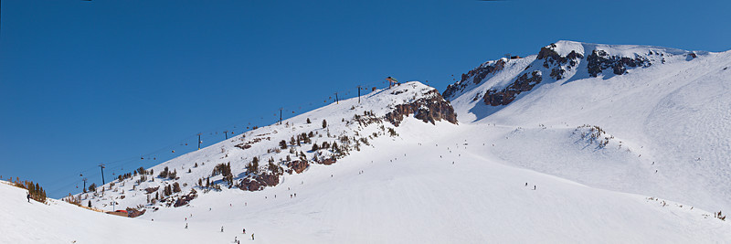 "St Anton and the ""backside"" of Chair 3. The Cornice comes in from the far right skyline."