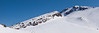 """St Anton and the """"backside"""" of Chair 3. The Cornice comes in from the far right skyline."""