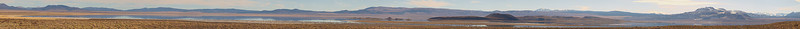 """This view from the north of Mono Lake puts Negit Island in front of Paoha Island. Mono Craters to the south of the lake are at the far right  <a href=""""http://www.dbdimages.com/photos/809924822_PhV7T-O.jpg""""TARGET=""""blank"""">View large in another window.</a> Use your viewer's zoom function if necessary and be sure to use the sliders."""