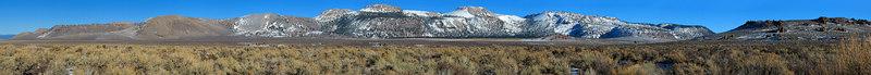 """Mono Craters east of US-395 Crater Mountain, 9172' is the high point. Aeolian Buttes at the far right.  <a href=""""http://www.dbdimages.com/photos/76433184_zafVc-O.jpg""""TARGET=""""blank"""">View large in another window.</a> Use your viewer's zoom function if necessary and be sure to use the sliders."""