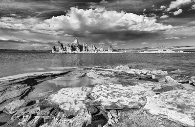 Mono Lake in Monchrome