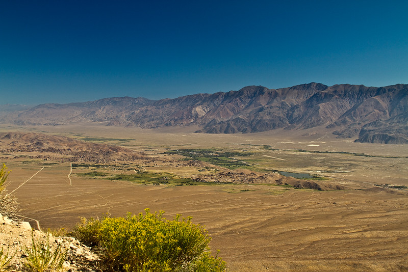 View northeast over Lone Pine and the Alabama Hills.