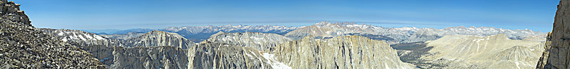 """Mount Whitney Ridge Trail Western View Late AM weather: clear and dry 2006-07-16  <a href=""""http://www.dbdimages.com/photos/82879504_VYhez-O.jpg""""TARGET=""""blank"""">View large in another window.</a> Use your viewer's zoom function if necessary and be sure to use the sliders."""
