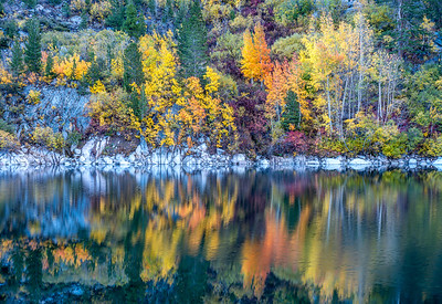 Lake Sabrina Autumn Reflections