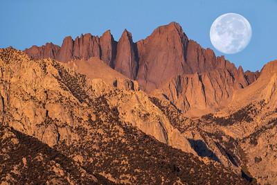 Harvest Moon over Mt. Whitney