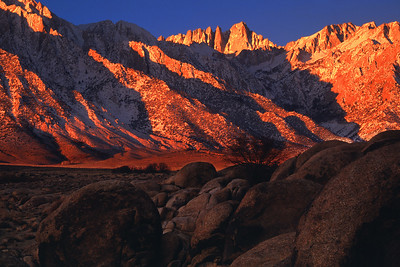 Winter Sunrise, Mount Whitney Alabama Hills California