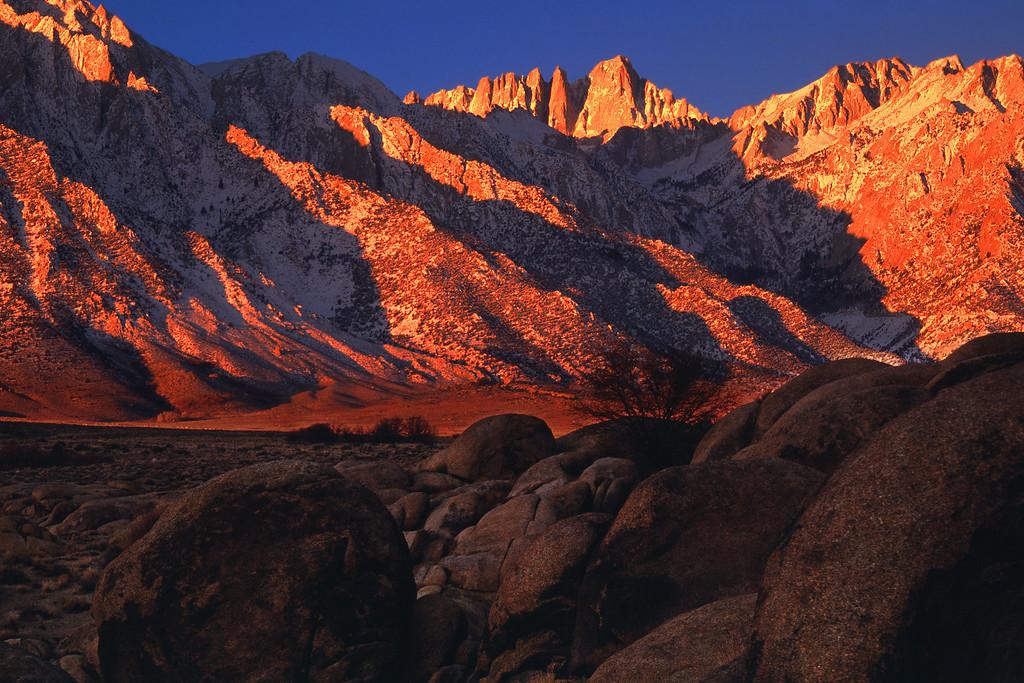 Winter Sunrise, Mount Whitney Alabama Hills California