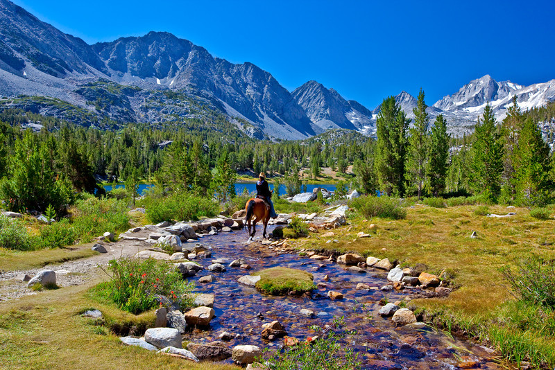 """Rider in Little Lakes Basin"""