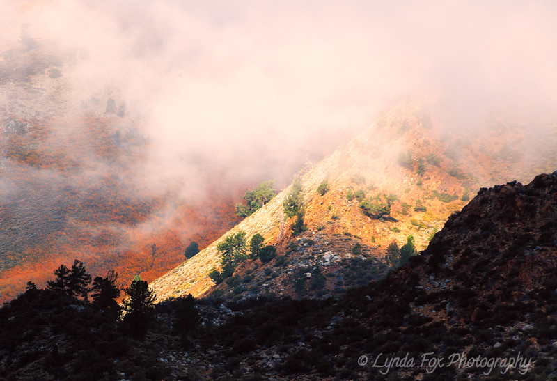 Red Fog Over Mountains