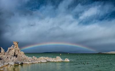 Mono Lake Rainbow