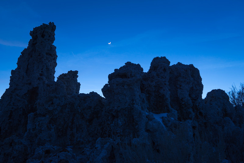 Crescent Moon over Tufa