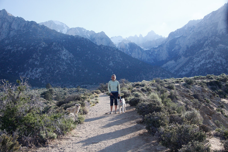 Lone Pine Campground - w Whitney in the background