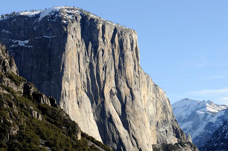 Snow-capped El Cap