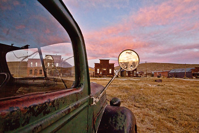Old truck in Bodie, CA  at dawn