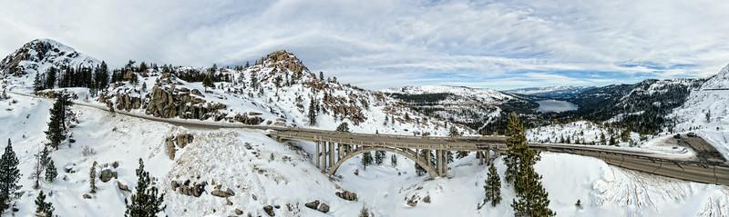Donner Pass Bridge Panoramic