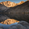 Sunrise at Convict Lake with Laurel Mountain in the eastern Sierras.