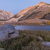 Alpenglow on the mountains above North Lake in the Sierras.