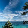 High-level clouds over Lake Tahoe.