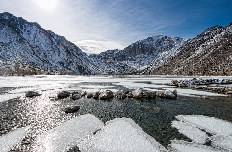 Freezing Convict Lake - Mammoth