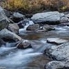 Boulders and flowing water in Bishop Creek in the Eastern Sierras.
