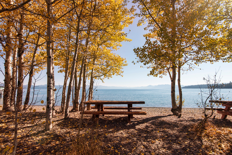 Your own picnic bench at Tahoe.