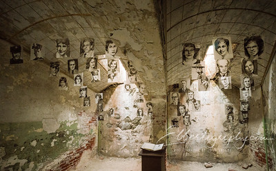 This artist displayed pictures of the victims who were murdered by the inmates of Eastern State.