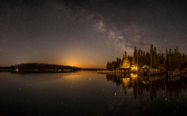 Moonrise and the Milky Way on Islington Channel