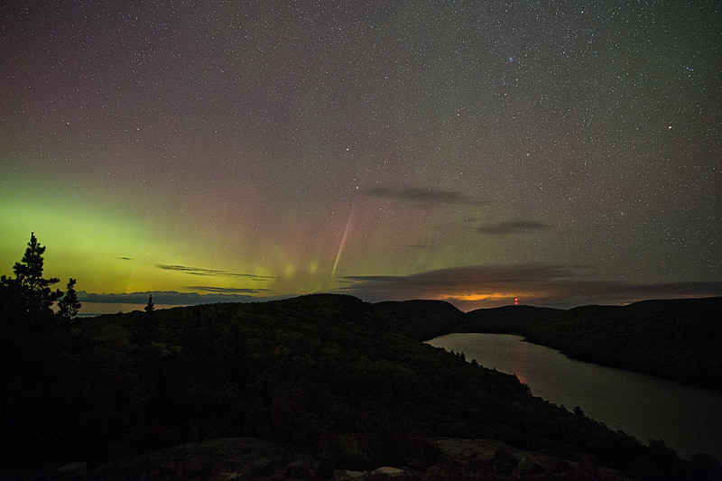 Lake of the Clouds and the Northern Lights