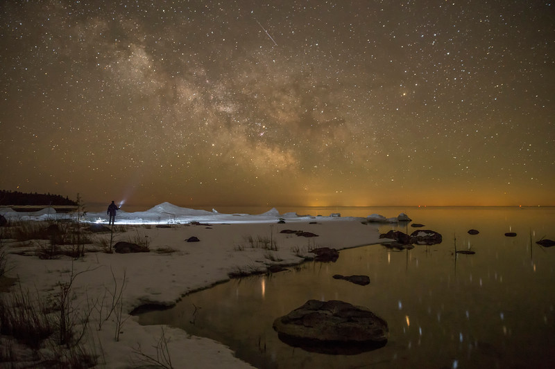 Searching for the Milky Way over Lake Huron