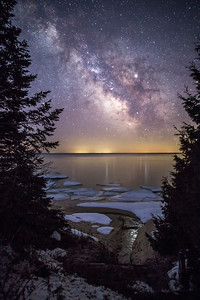 Milky Way over Ice Flows