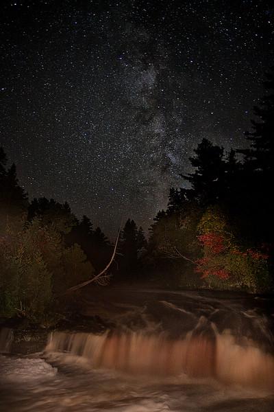 Tahquamenon Falls under the stars