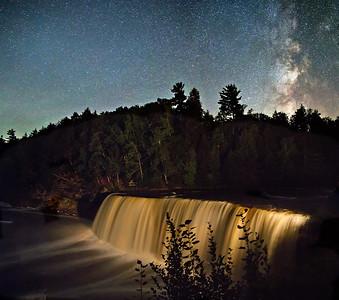 Tahquamenon Falls at Night