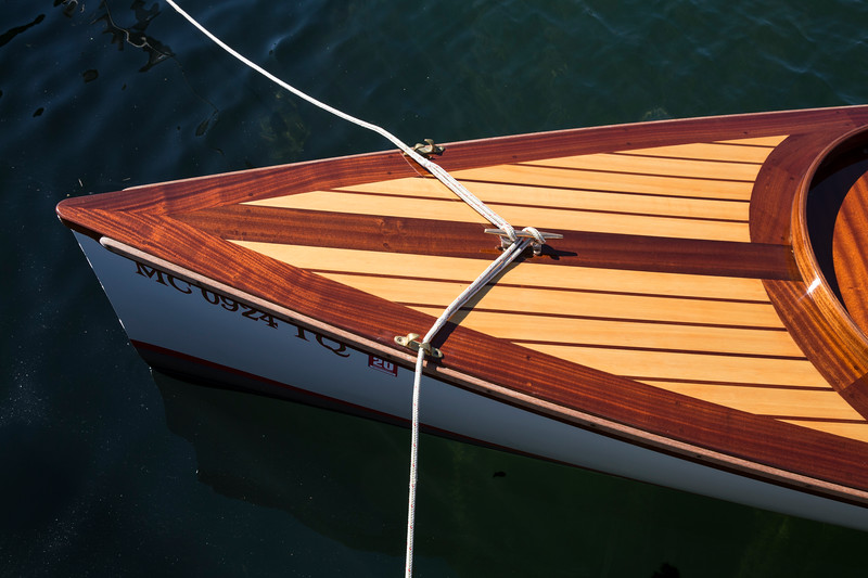 Wooden Boat bow lines