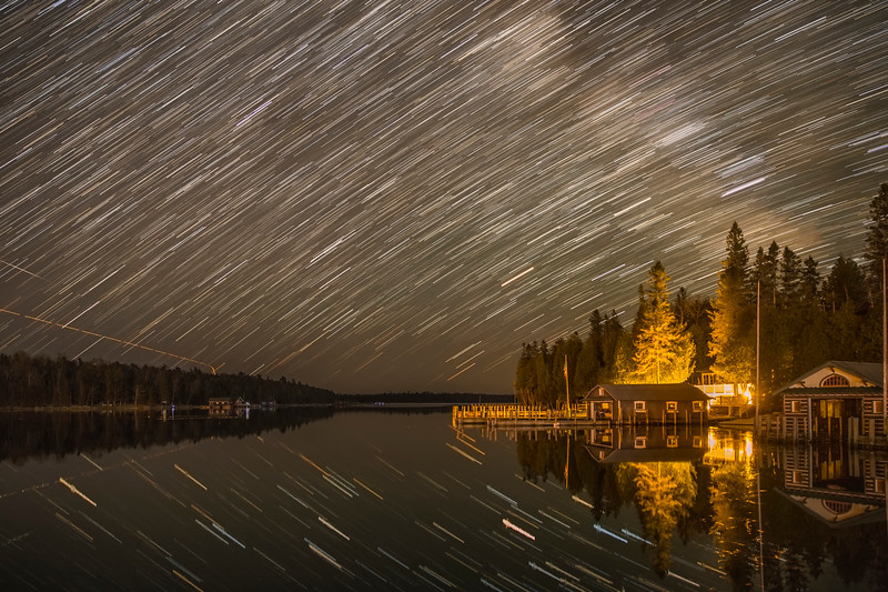 Star Trails over Islington Point