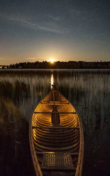 Moonrise on Lit Canoe