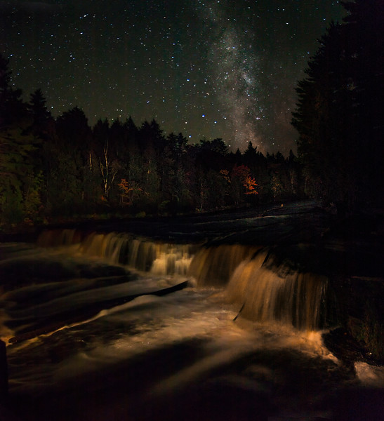 Tahquamenon Falls under the Milky Way