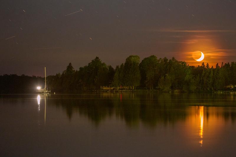 Hessel Bay Crescent Moon Setting