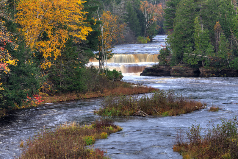 Lower Tahquamenon Falls in the Fall
