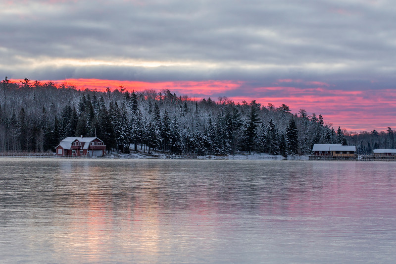 Dawn on New Ice in Cedarville Bay