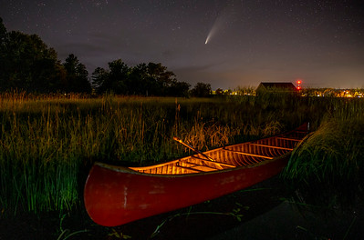 Comet NEOWISE over Cedarville Bay
