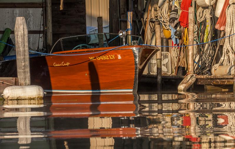 Chris Craft in Viking Marine Boathouse