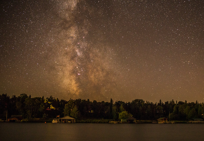 Milky Way over Marquette Island